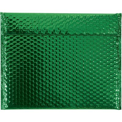"""13 3/4 x 11"""" Green Glamour Bubble Mailers"""