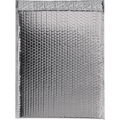 """16 x 17 1/2"""" Silver Glamour Bubble Mailers"""