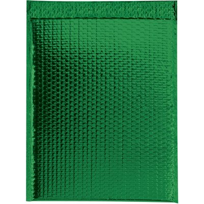 """19 x 22 1/2"""" Green Glamour Bubble Mailers"""