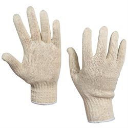 String Knit Cotton Gloves - Large