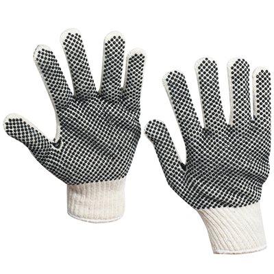 PVC Black Dot Knit Gloves - Small