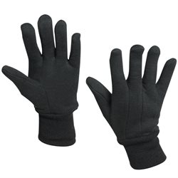 100% Jersey Cotton Gloves - Large