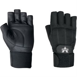 Pro Material Handling Fingerless Gloves w/ Wrist Strap - Large