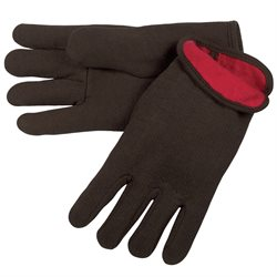 Lined Jersey Cotton Gloves - Large