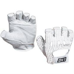 Mesh Backed Lifting Gloves - White - Large