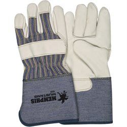 Deluxe Leather Palm Gloves - Medium