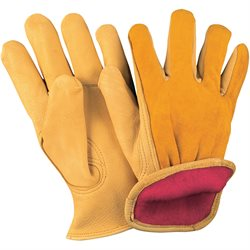 Deerskin Leather Drivers Gloves Lined - Large