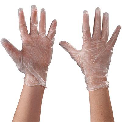 Vinyl Gloves- Clear - 5 Mil - Powdered - Xlarge