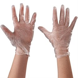 Vinyl Gloves Clear - 5 Mil - Powder Free - Large