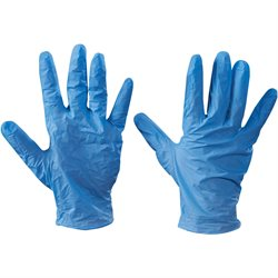 Vinyl Gloves - Blue - 5 Mil - Powdered - Small