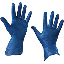 Vinyl Gloves- Blue - 5 Mil - Powder Free - Large