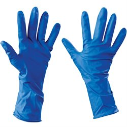 Latex Industrial Gloves Powder-Free w/Extended Cuff - Xlarge