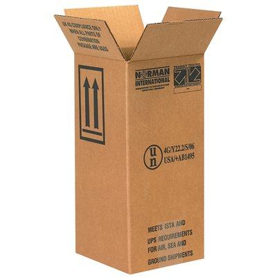"""6 x 6 x 12 3/4"""" 1 - 1 Gallon Plastic Jug Haz Mat Boxes"""
