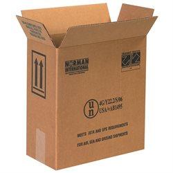 """12 x 6 x 12 3/4"""" 2 - 1 Gallon Plastic Jug Haz Mat Boxes"""