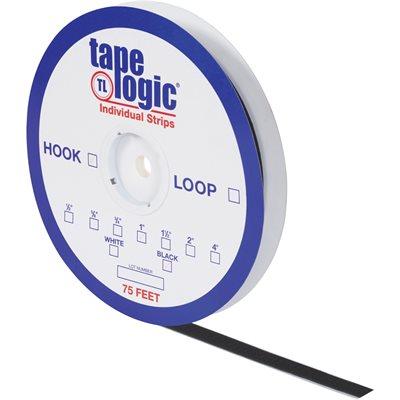 """1 1/2"""" x 75' Black Hook Tape Logic® Individual Tape Strips"""