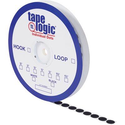 """5/8"""" Black Loop Tape Logic® Individual Tape Dots"""