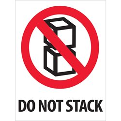"3 x 4"" - ""Do Not Stack"" Labels"