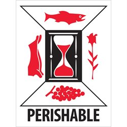 "3 x 4"" - ""Perishable"" Labels"