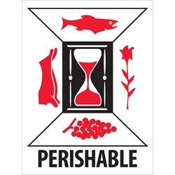 "3 x 4"" - ""Perishable"" Labels"