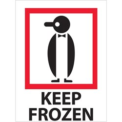 "3 x 4"" - ""Keep Frozen"" Labels"