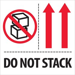 "4 x 4"" - ""Do Not Stack"" Labels"