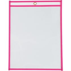 "9 x 12"" Neon Pink Job Ticket Holders"