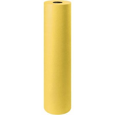 "36"" - 50 lb. Yellow Kraft Paper Rolls"
