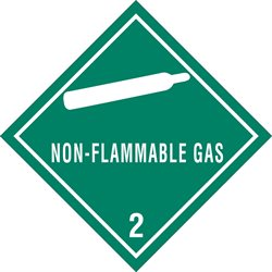 """4 x 4"""" - """"Non-Flammable Gas - 2"""" Labels"""