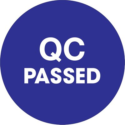 "2"" Circle - ""QC Passed"" Blue Labels"