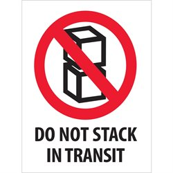 "3 x 4"" - ""Do Not Stack In Transit"" Labels"