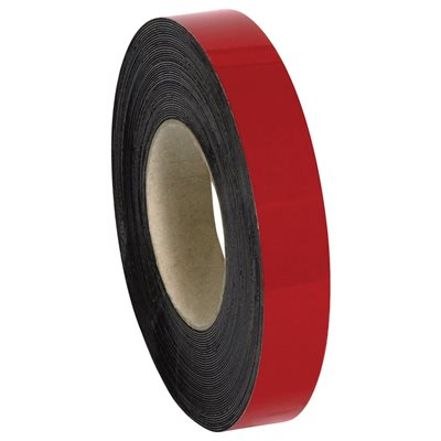 """1"""" x 50' - Red Warehouse Labels - Magnetic Rolls"""