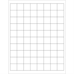 """1 x 1"""" White Rectangle Laser Labels"""