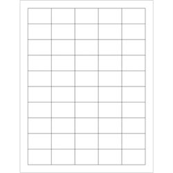 """1 1/2 x 1"""" White Rectangle Laser Labels"""