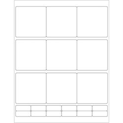 """2 3/4 x 2 3/4"""" White Rectangle Laser Labels"""