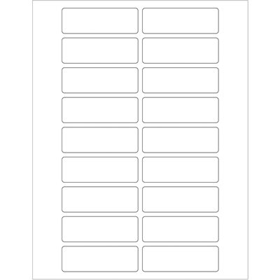 """3 x 1"""" White Rectangle Laser Labels"""