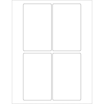 """3 x 5"""" White Rectangle Laser Labels"""