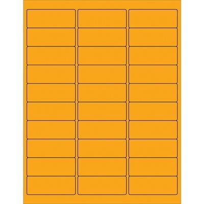 "2 5/8 x 1"" Fluorescent Orange Rectangle Laser Labels"