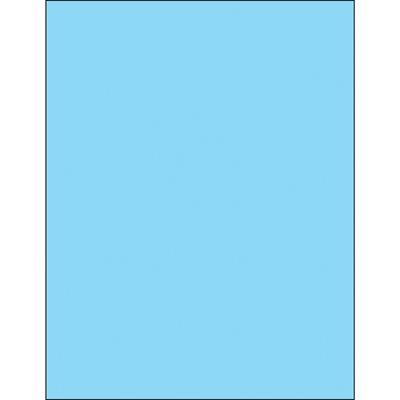 """8 1/2 x 11"""" Fluorescent Pastel Blue Rectangle Laser Labels"""