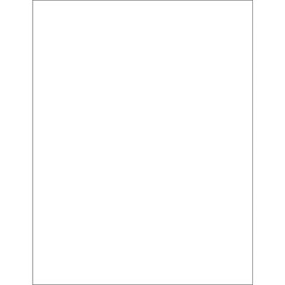 """8 1/2 x 11"""" Glossy White Rectangle Laser Labels"""