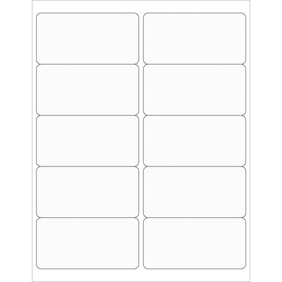 """4 x 2"""" Clear Rectangle Laser Labels"""