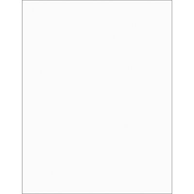 """8 1/2 x 11"""" Clear Rectangle Laser Labels"""