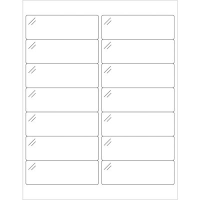 """4 x 1 1/3"""" Crystal Clear Rectangle Laser Labels"""