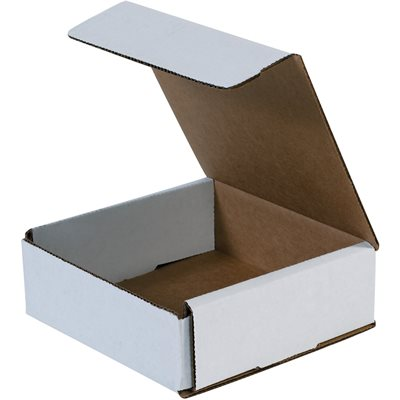"""8 x 4 x 3"""" White Corrugated Mailers 50/BD"""