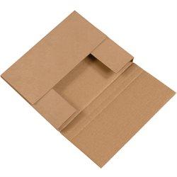 """10 1/4 x 8 1/4 x 1 1/4"""" Kraft Easy-Fold Mailers"""