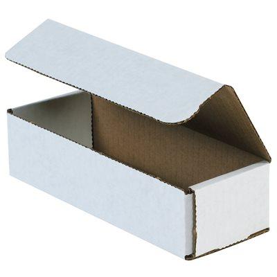 "12 x 4 x 2"" White Corrugated Mailers"