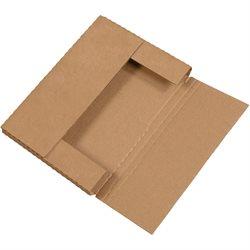 """12 1/8 x 9 1/8 x 1"""" Kraft Easy-Fold Mailers"""