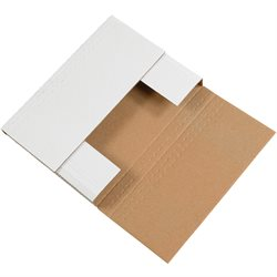 """14 1/4 x 11 1/4 x 2"""" White Easy-Fold Mailers"""