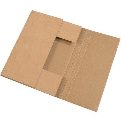 """17 1/4 x 11 1/4 x 2"""" Kraft Easy-Fold Mailers"""