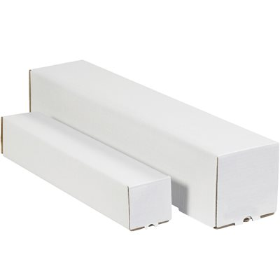 "2 x 2 x 37"" White Square Mailing Tubes"