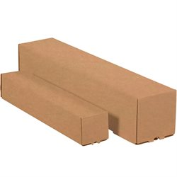 "3 x 3 x 18"" Kraft Square Mailing Tubes"